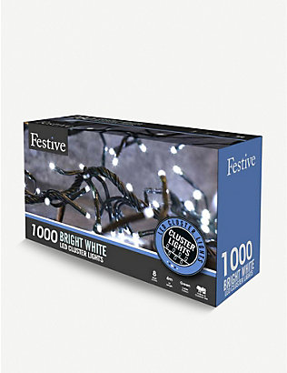CHRISTMAS: 1000 Bright White LED cluster lights