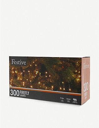 CHRISTMAS: 300 multi-coloured firefly lights 7.7m