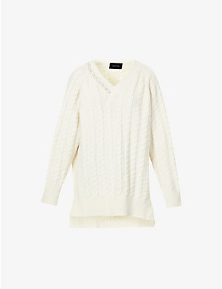 SIMONE ROCHA: Pearl-embellished knitted jumper