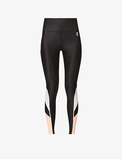 P.E NATION: High-rise stretch-jersey leggings