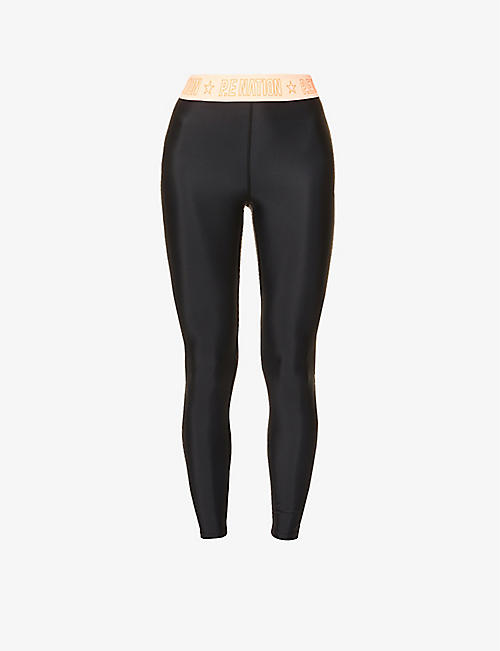 P.E NATION: Front Side high-rise stretch-jersey leggings