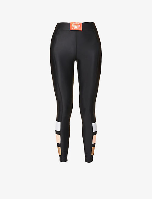 P.E NATION: Cross Limits high-rise stretch-jersey leggings