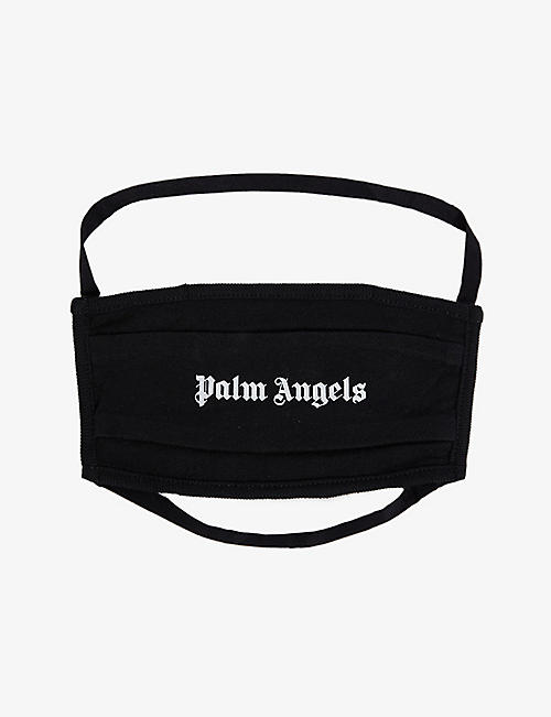 PALM ANGELS: Logo-print cotton face covering