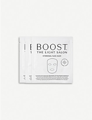 THE LIGHT SALON: BOOST hydrogel face mask pack of three