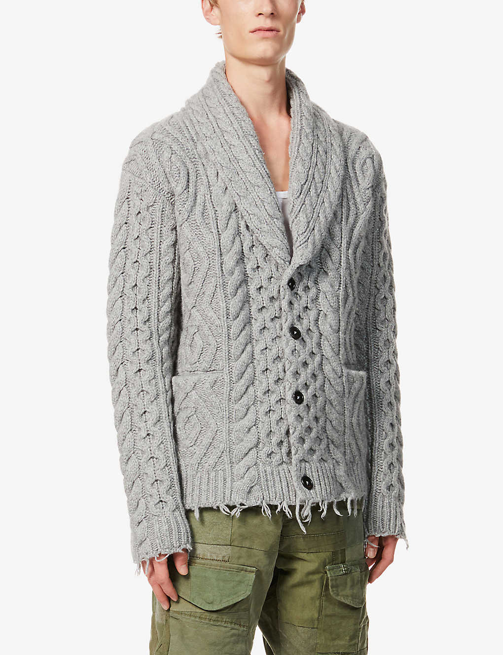 ALANUI: Fisherman cashmere and wool-blend cardigan