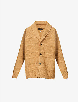 ALANUI: Fisherman geometric-intarsia cashmere and wool-blend cardigan