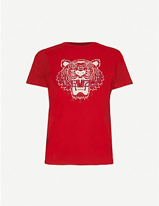 KENZO: Tiger-print cotton-jersey T-shirt