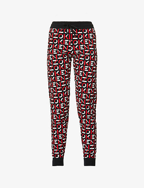 KENZO: Sport cotton-blend knitted trousers