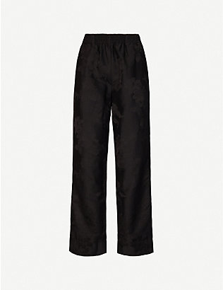 AGANOVICH: Tapered mid-rise woven trousers