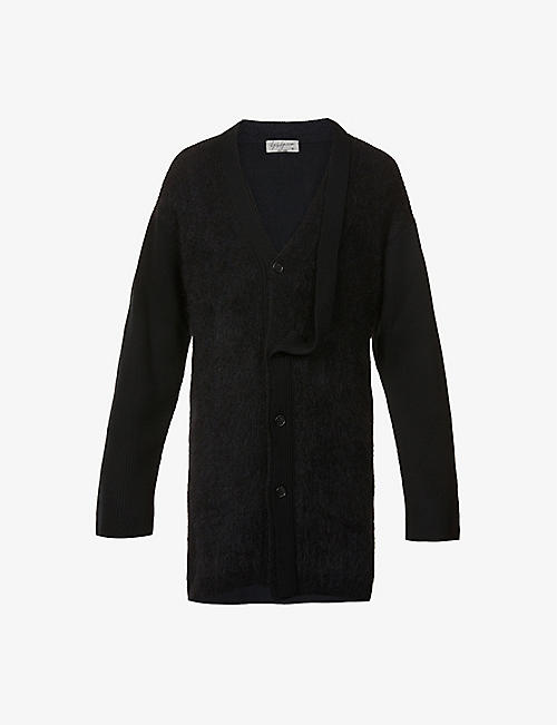 YOHJI YAMAMOTO: Dropped-shoulder wool and mohair-blend cardigan