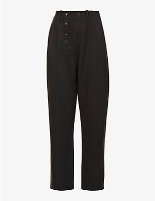 NOMAD GOBA: Relaxed-fit high-rise hemp trousers