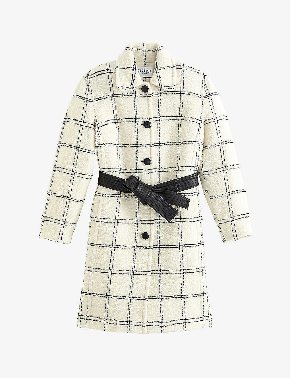CLAUDIE PIERLOT: Belted wool-blend coat
