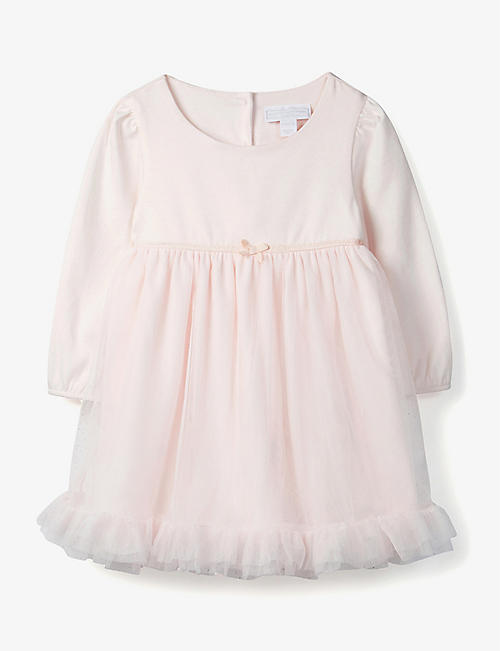 THE LITTLE WHITE COMPANY: Long sleeved tutu dress 0-24 months