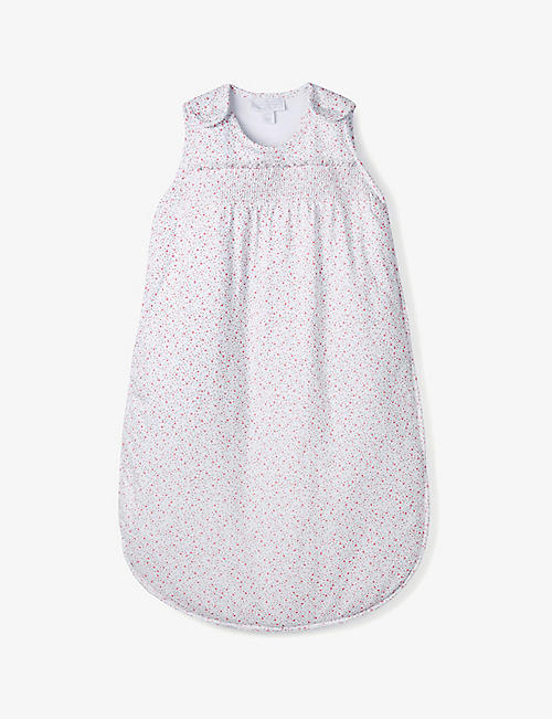 THE LITTLE WHITE COMPANY: Ditsy floral 2.5 tog cotton sleeping bag 0-36 months