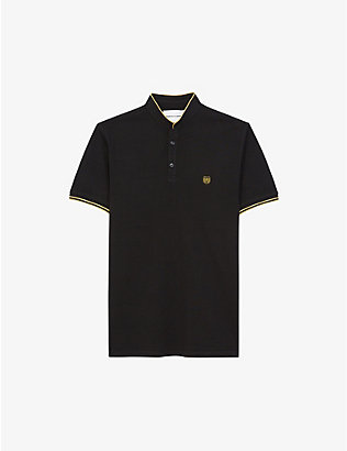 THE KOOPLES SPORT: Logo-embroidered cotton-piqué polo shirt
