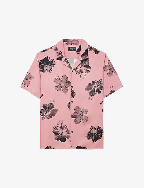 THE KOOPLES: Floral-print crepe shirt