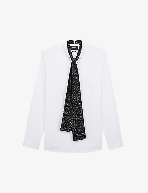 THE KOOPLES: Regular-fit embellished cotton-blend shirt