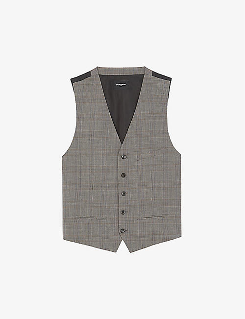 THE KOOPLES: Prince of Wales check stretch-wool waistcoat
