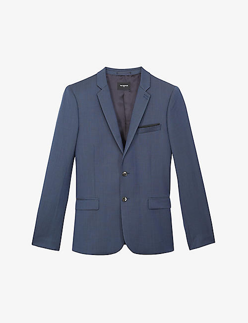 THE KOOPLES: Textured single-breasted wool blazer