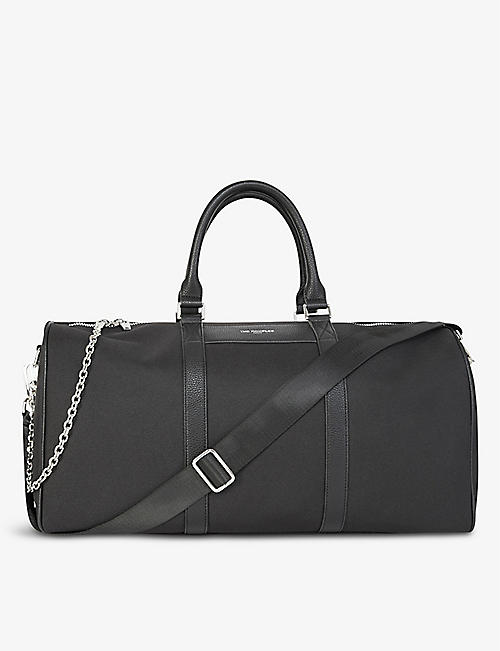 THE KOOPLES: Brand-print technical fabric weekend bag