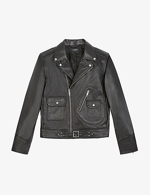 THE KOOPLES: Leather biker jacket