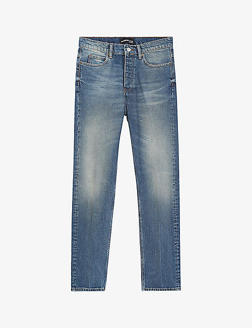 THE KOOPLES: High-rise straight-leg denim jeans