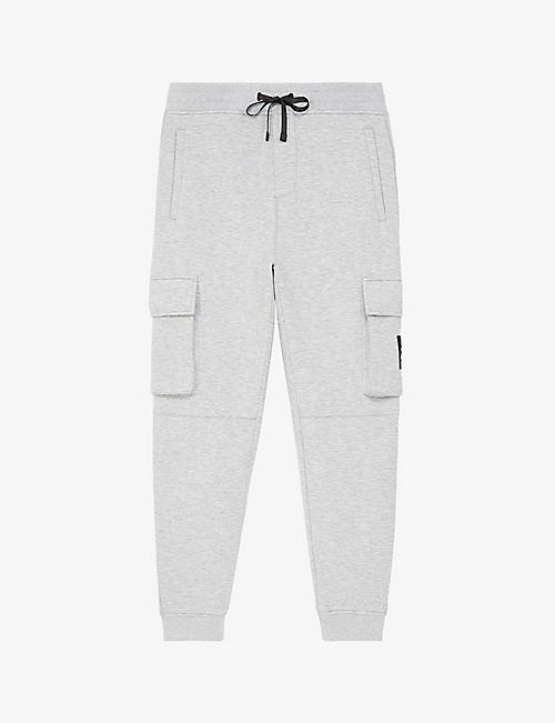 THE KOOPLES SPORT: Cropped tapered stretch-cotton trousers