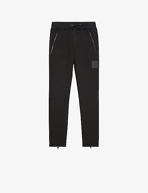 THE KOOPLES SPORT: Logo-print cotton-jersey jogging bottoms
