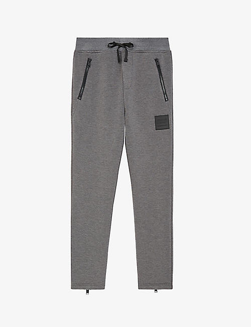 THE KOOPLES SPORT: Logo-print cotton-blend jersey jogging bottoms