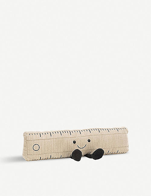 JELLYCAT: Smart Stationery Ruler soft toy 9cm