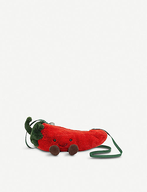 JELLYCAT: Amuseable chilli plush cross-body bag