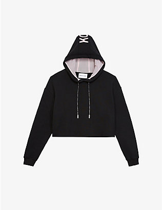 THE KOOPLES SPORT: Branded-drawstring cotton-jersey hoody