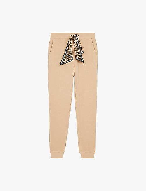 THE KOOPLES SPORT: Leopard-print stretch-cotton jersey jogging bottoms