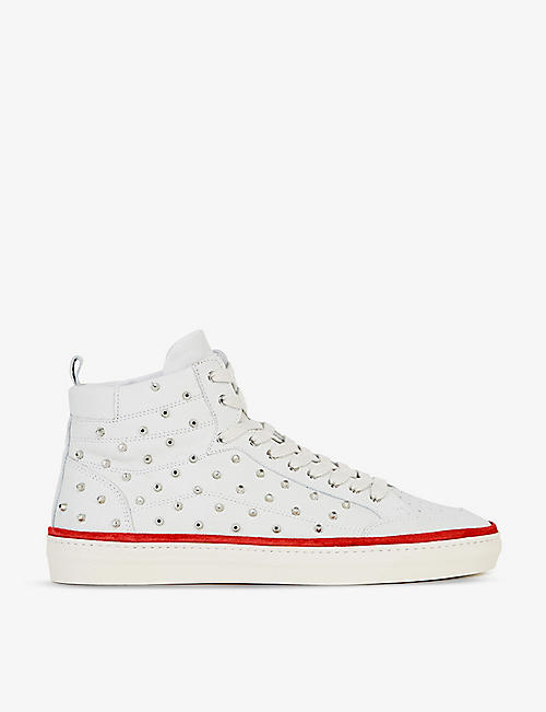 THE KOOPLES: Stud-detail leather high-top trainers