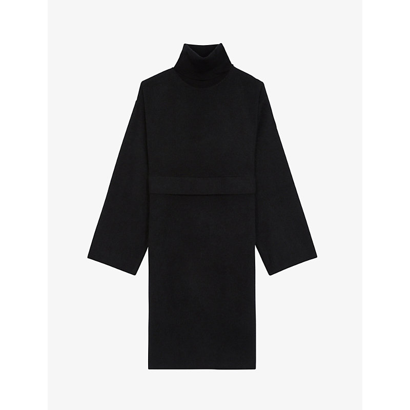 The Kooples ROLLNECK WOOL-BLEND JUMPER DRESS