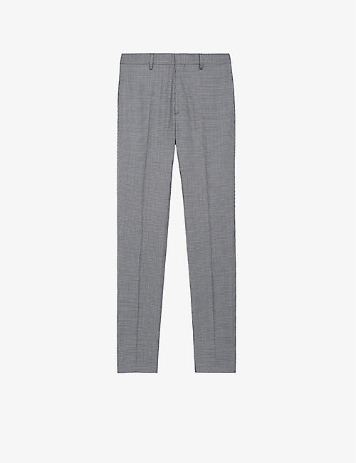 THE KOOPLES: Mid-rise slim-fit wool-blend trousers