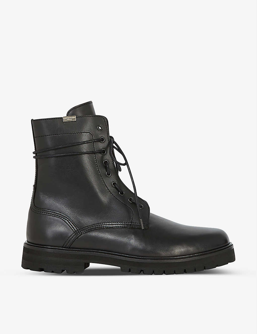 THE KOOPLES: Side-lace leather ankle boots