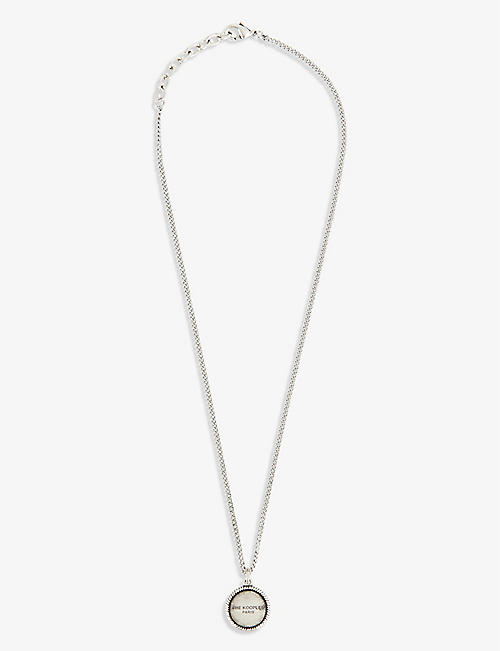 THE KOOPLES: Logo-embossed sterling silver necklace