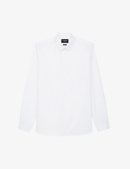 THE KOOPLES: Logo-embroidered cotton shirt