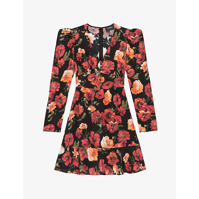 The Kooples SILK FLORAL-PRINT DRESS