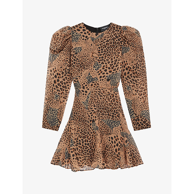 The Kooples LEOPARD-PRINT CREPE MINI DRESS