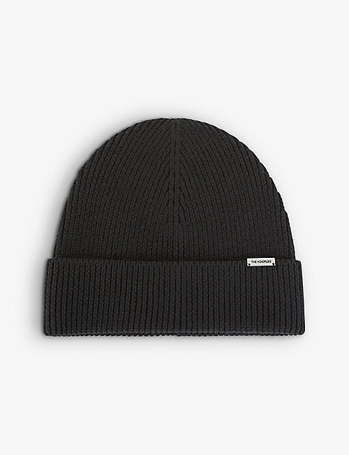 THE KOOPLES: Knitted wool beanie hat