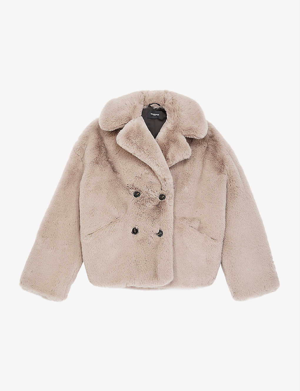 THE KOOPLES: Faux-fur double-breasted cropped jacket