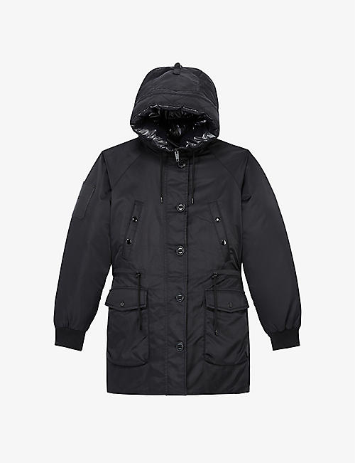 THE KOOPLES: Faux fur-trimmed shell hooded parka