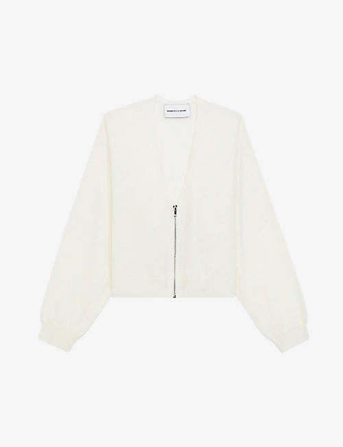 THE KOOPLES SPORT: Zipped wool and cashmere-blend cardigan