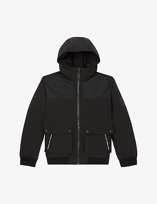 THE KOOPLES SPORT: Branded-trim hooded woven jacket