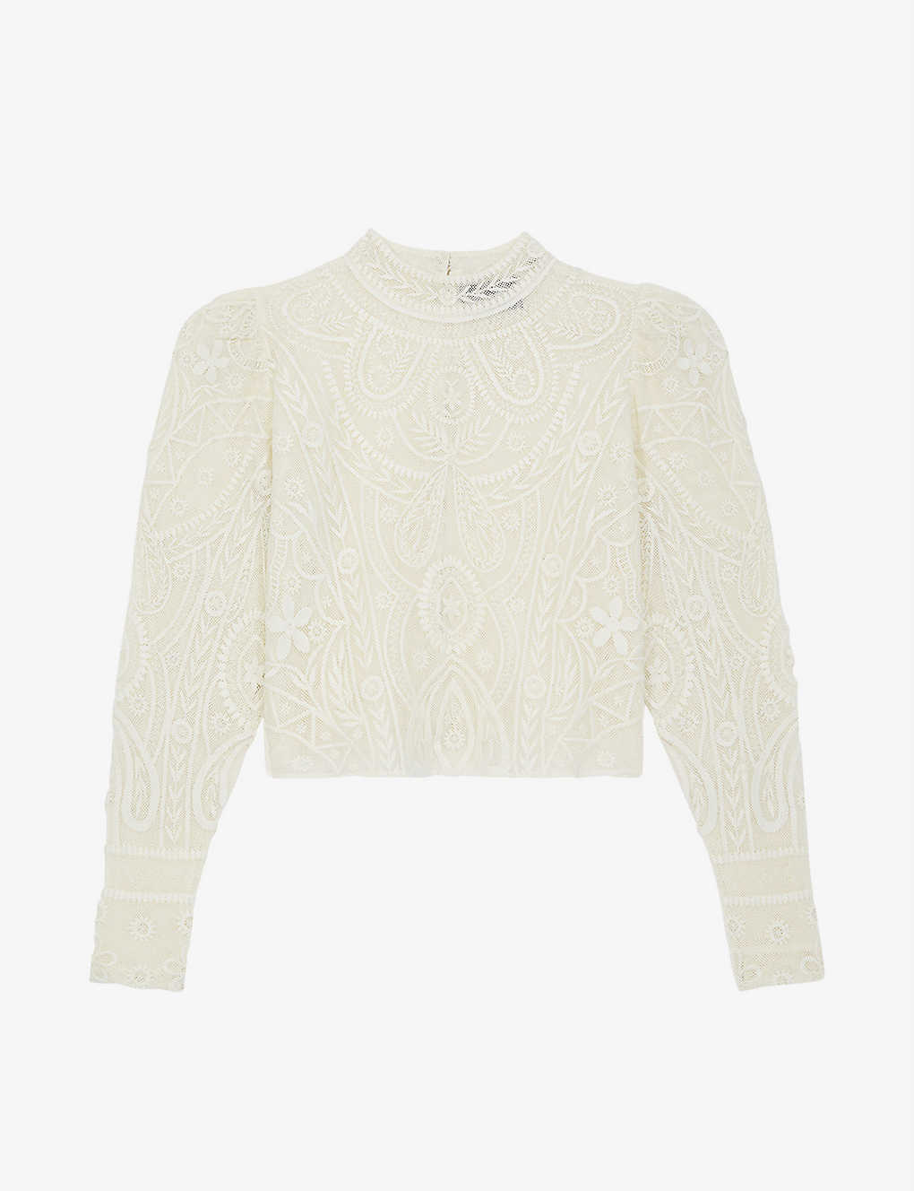 THE KOOPLES: Lace-detail woven top