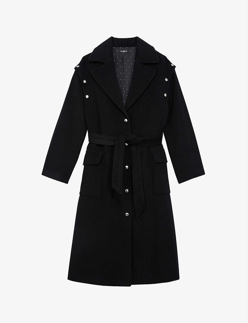 THE KOOPLES: Single-breasted wool-blend coat
