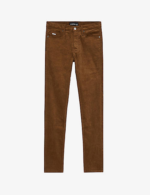 THE KOOPLES: Velvet stretch-cotton corduroy jeans