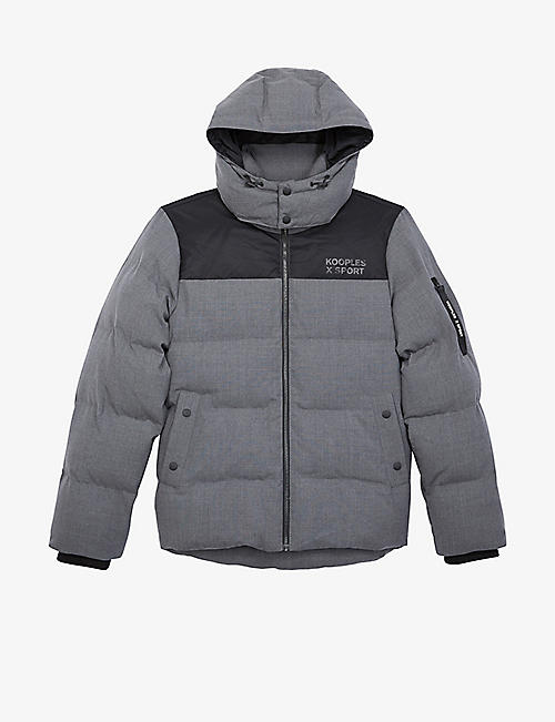 THE KOOPLES SPORT: Hooded quilted down jacket